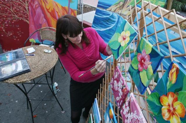 Helen Hawes, San Diego Muralist, photo by Jamie Scott Lytle