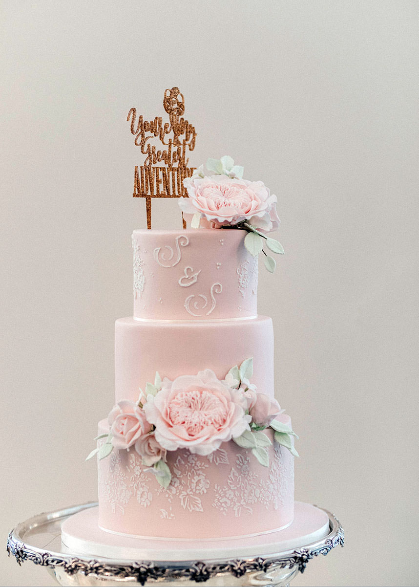 Pink Wedding Cake full