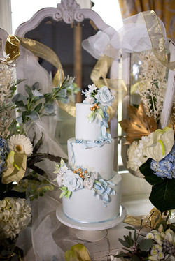 White and Blue Wedding Cake 1 by Simply