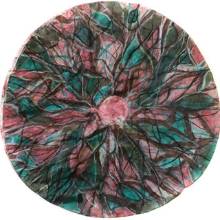 Untitled, Round (green and pink)