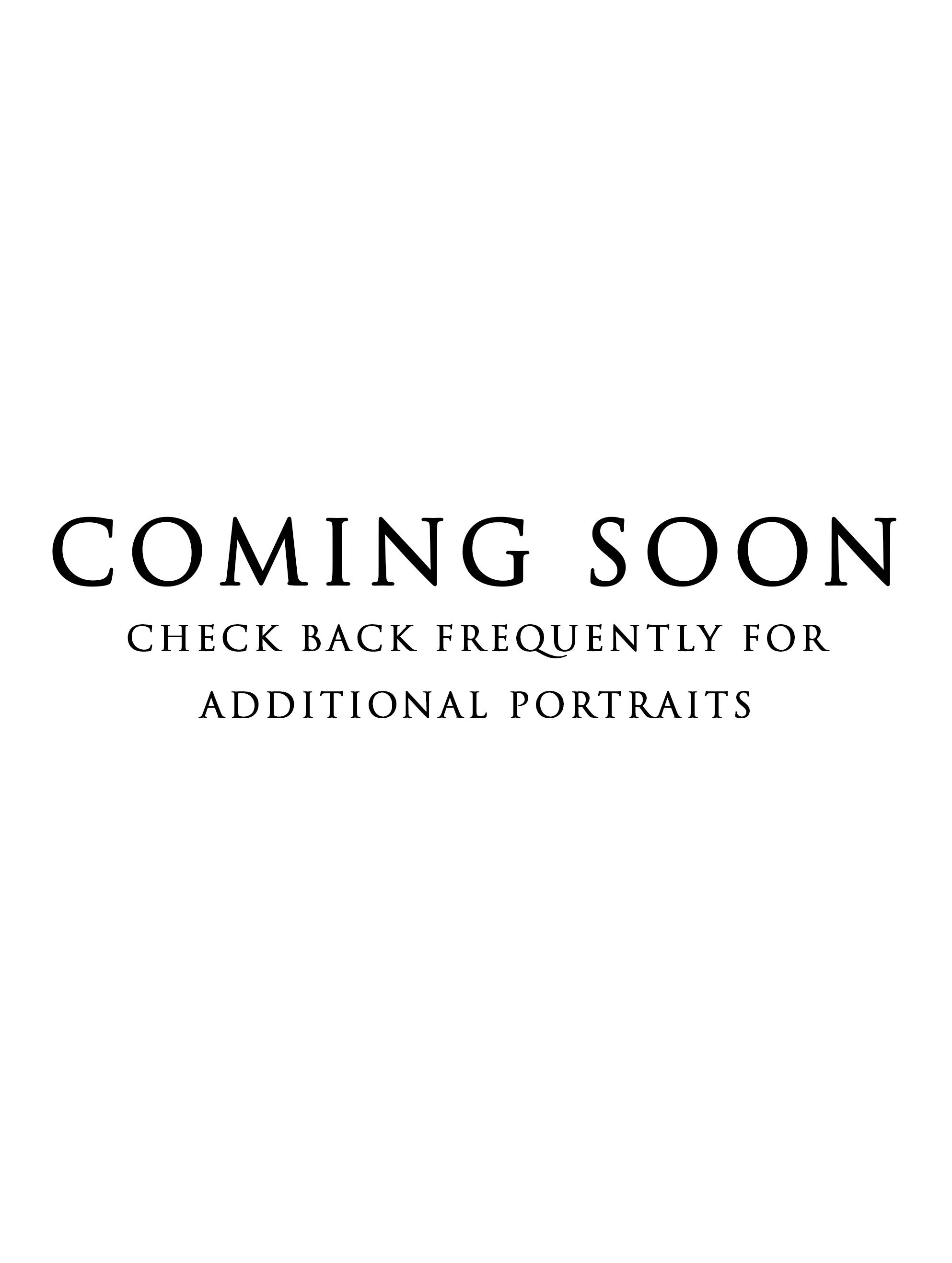 Portraits Coming Soon