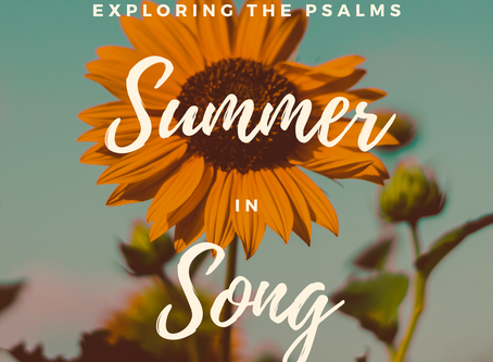 Sunday 26th July - Songs of Joy