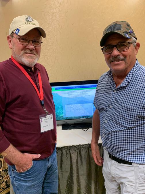 Jim Mitchell and Joe Bozzo who both took part in Operation Medina with Delta Company