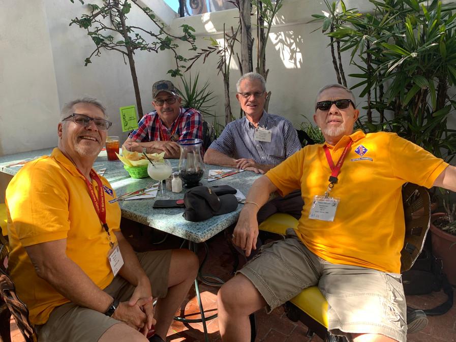 Bruce Kamin, Joe Bozzo, Richard Carmer (photographer), Bob McClean at Delta luncheon