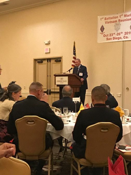 General Charles Wilhelm was the keynote speaker at the Battalion dinner.