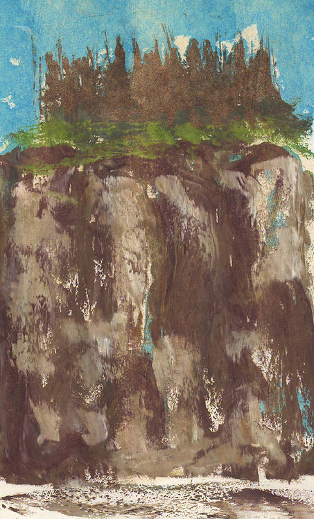 0184 Untitled Rock Lake Cliffs, Alqonquin I - unsigned