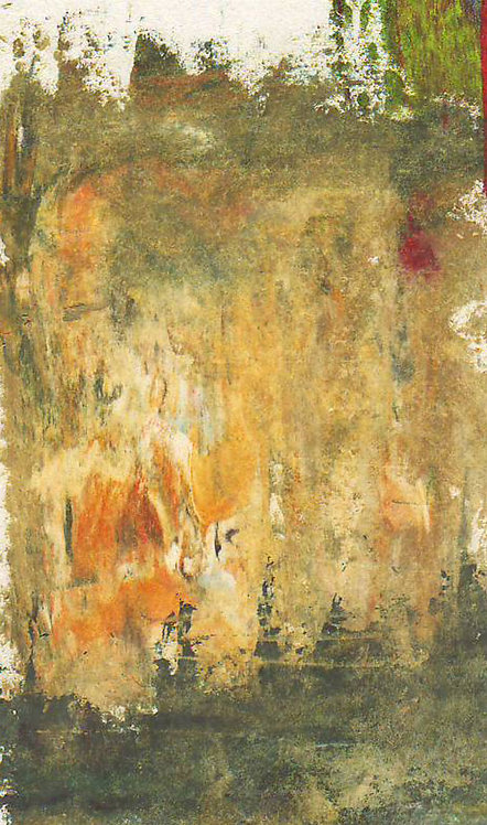 0189 Untitled Rock Lake Cliffs, Alqonquin II - unsigned study