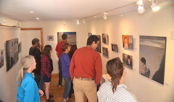 public views Reid McLachlan's art show