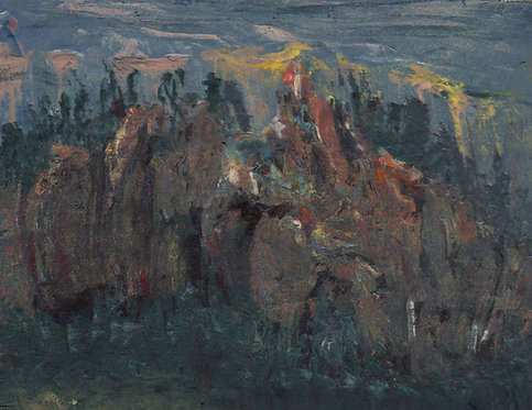 0106 The Colourful Cliffs of Cape Gargantua Superior- unsigned