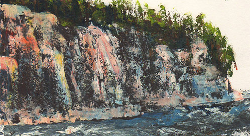 0093 Untitled  of Lake Superior Shoreline I - unsigned study
