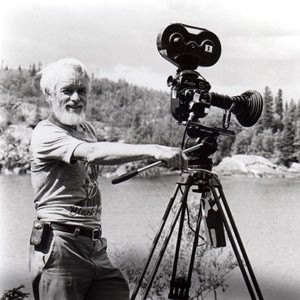 Bill Mason with his camera