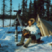 Bill Mason filming in arctic