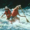 Bill and Paul Mason paddling