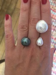 Perles de Tahiti, et perles d'eau douce