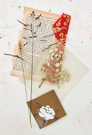 ephemera & collage flat lay