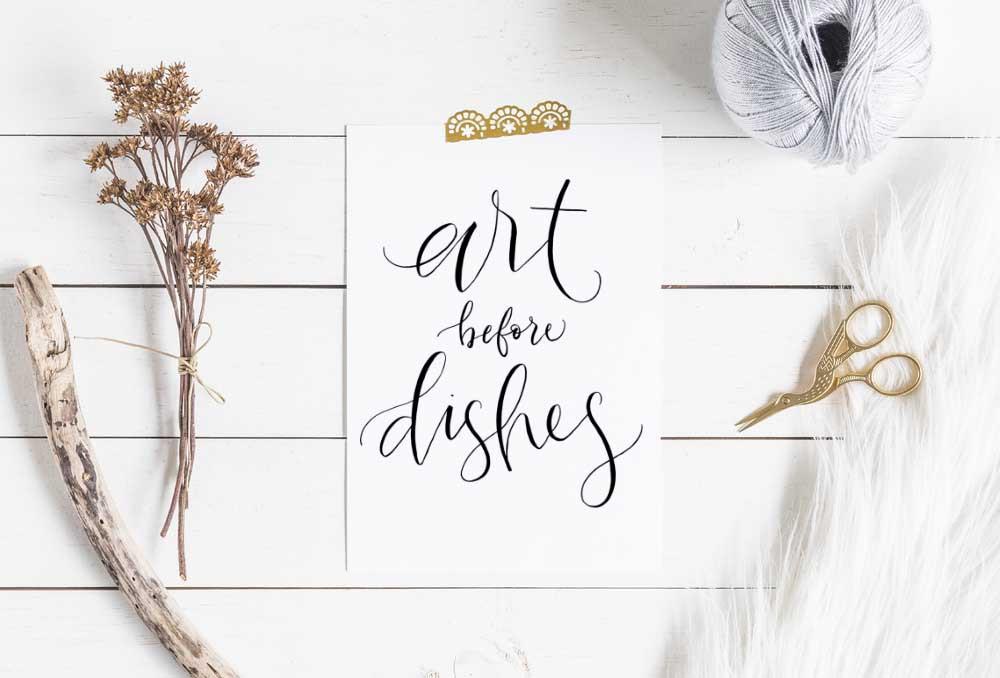 Art before Dishes Fine Art Print