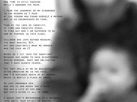 I'm failing...an honest poem about motherhood