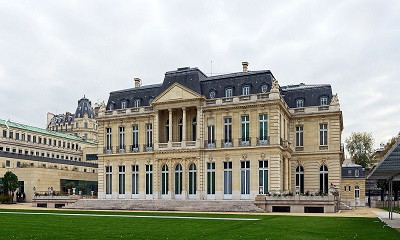 Rothschild family house, at the site of Château de la Muette, Paris. Built as a family residence by the secondary branch of the French Rothschild family,