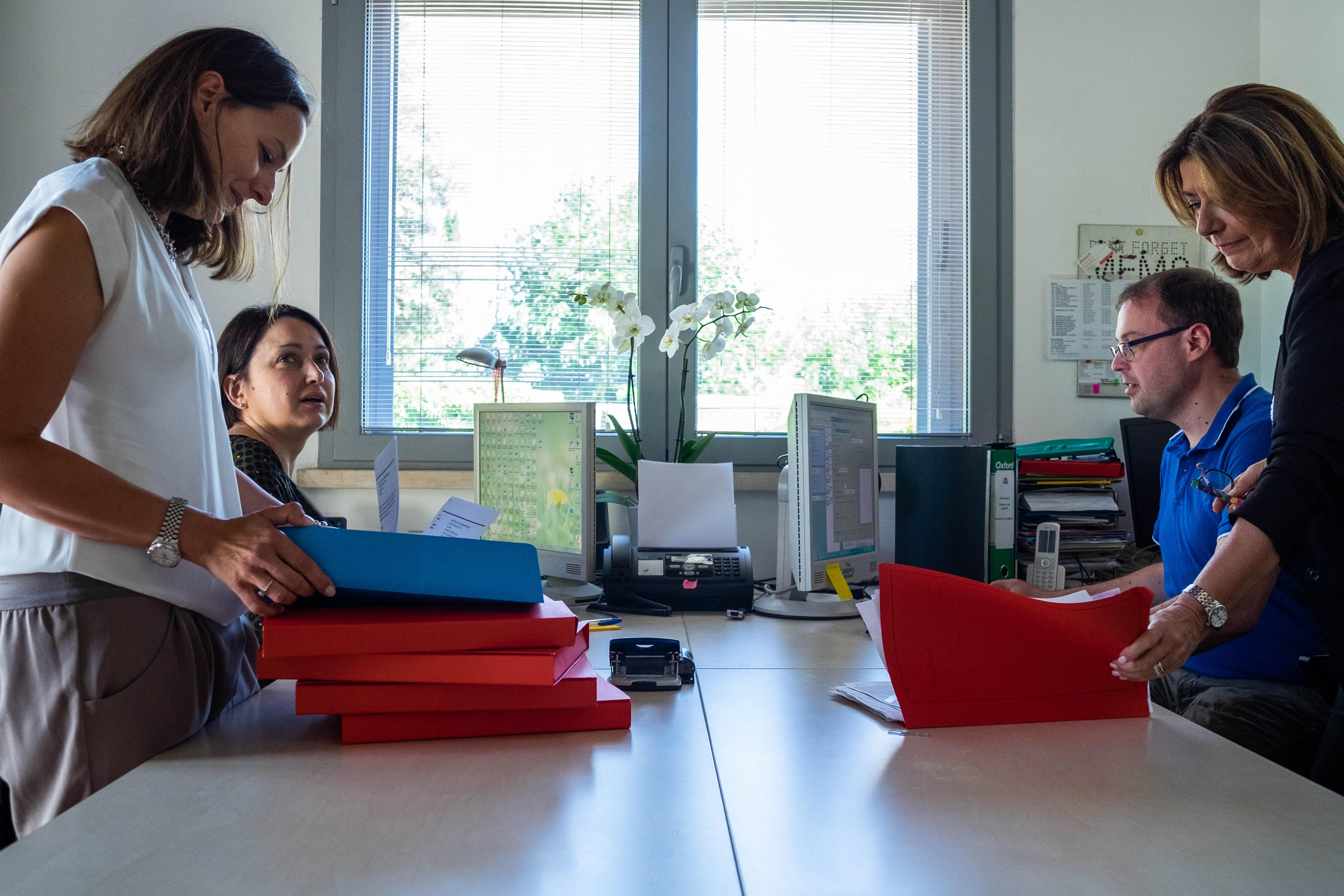 Administrative staff al lavoro