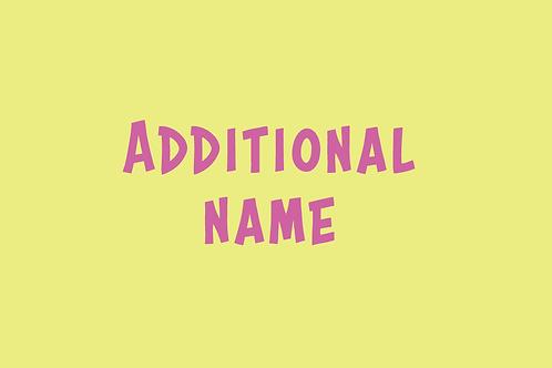Additional Name
