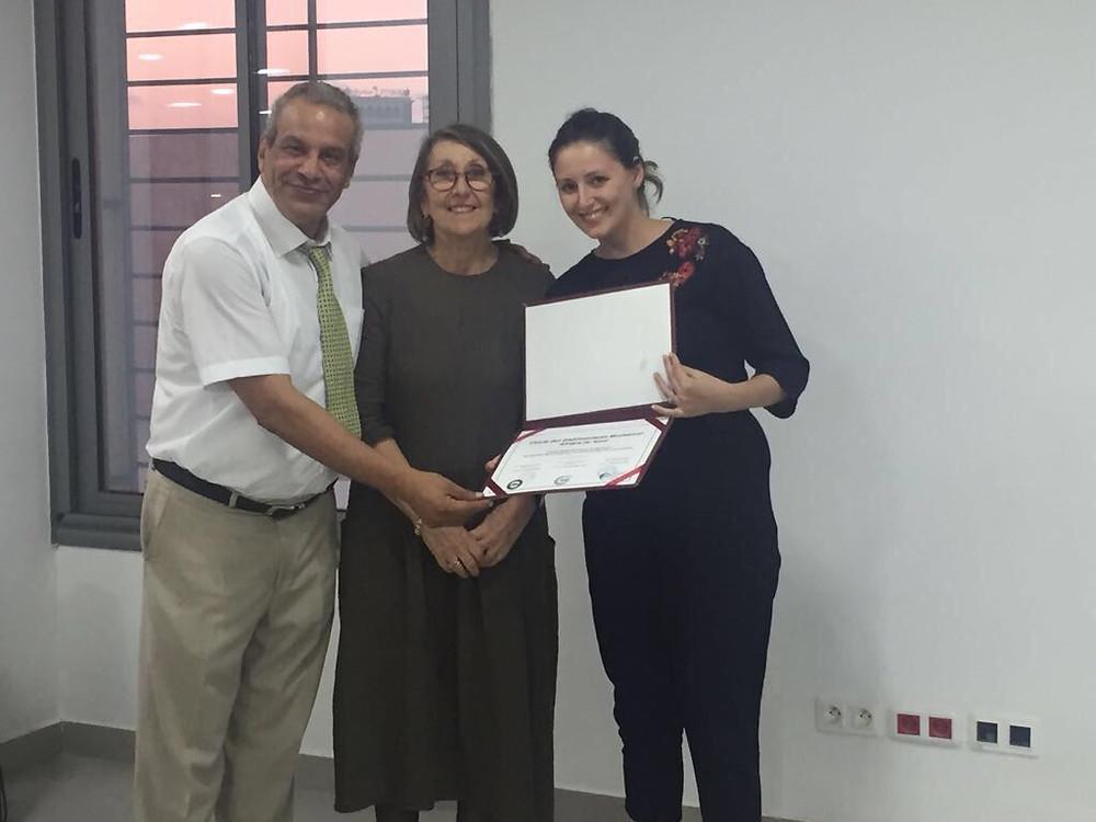 Remise Accreditation Mme Patricia Spinelli et M.Chouikhi