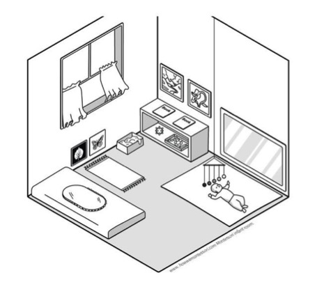 Plan chambre Montessori 2
