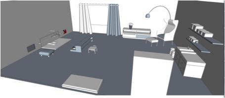 Plan chambre Montessori 1
