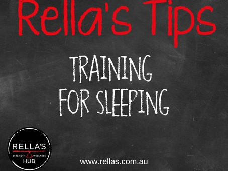 Recovery: Training for sleep
