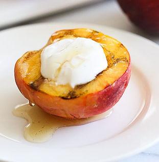 receitas fruta pêssego iogurte