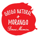 iogurte grego natural morango bonne maman everywhere individual com colher saqueta