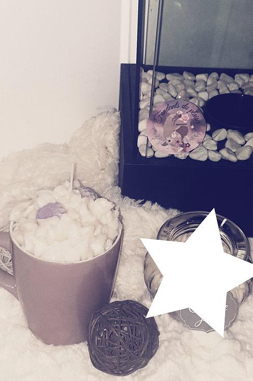 Grosse tasse gourmande fleurs de coton