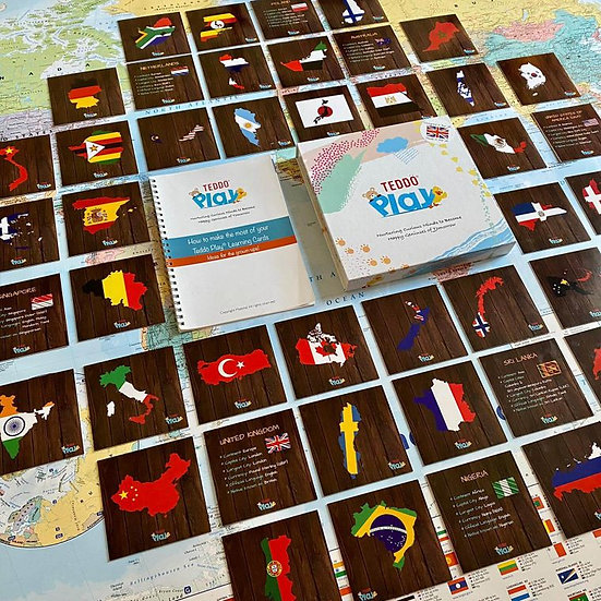 Countries, Cities, Flags & More Educational Cards