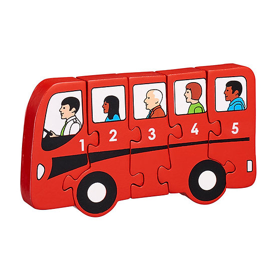 Numbers 1-5 Jigsaw Bus