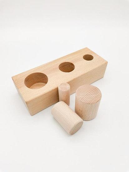 Three Cylinder Puzzle (Montessori)