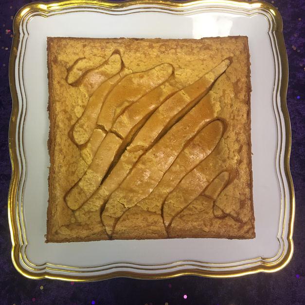 """8"""" Pumpkin Caramel Gooey Butter Cake"""