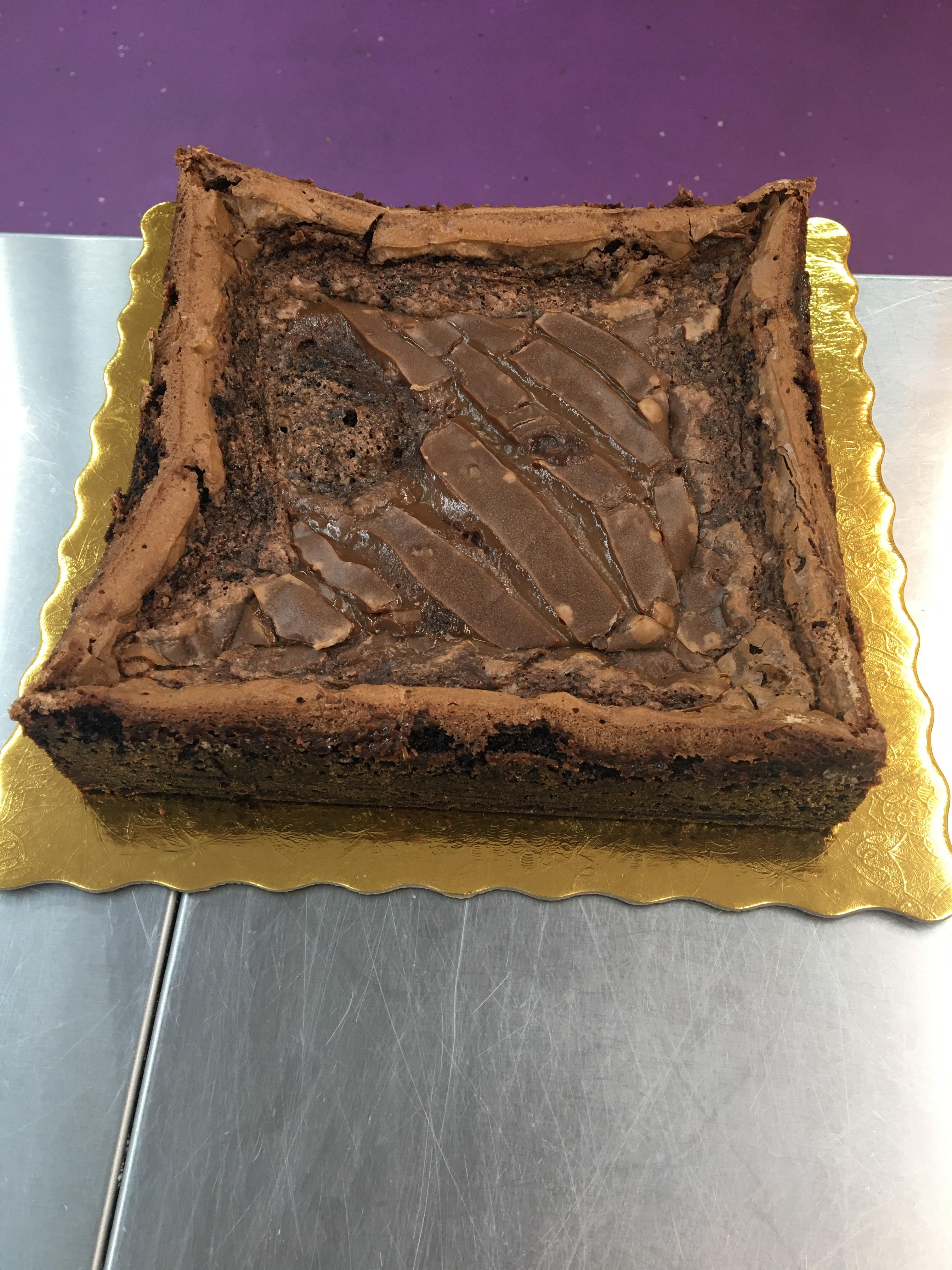 "8"" Chocolate Caramel Gooey Butter Cake"