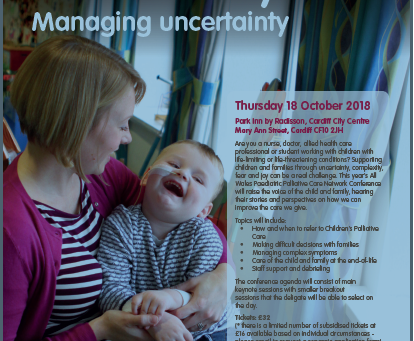National All Wales Paediatric Palliative Care Network Conference 2018 : Book your place now.