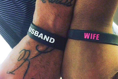 HUSBAND/WIFE wristbands