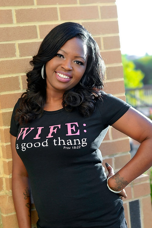 "CLOSEOUT! ""WIFE"" tee, Small and Med ONLY"