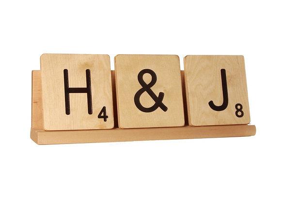 Scrabble Rack (for 3 large scrabble letter tiles)