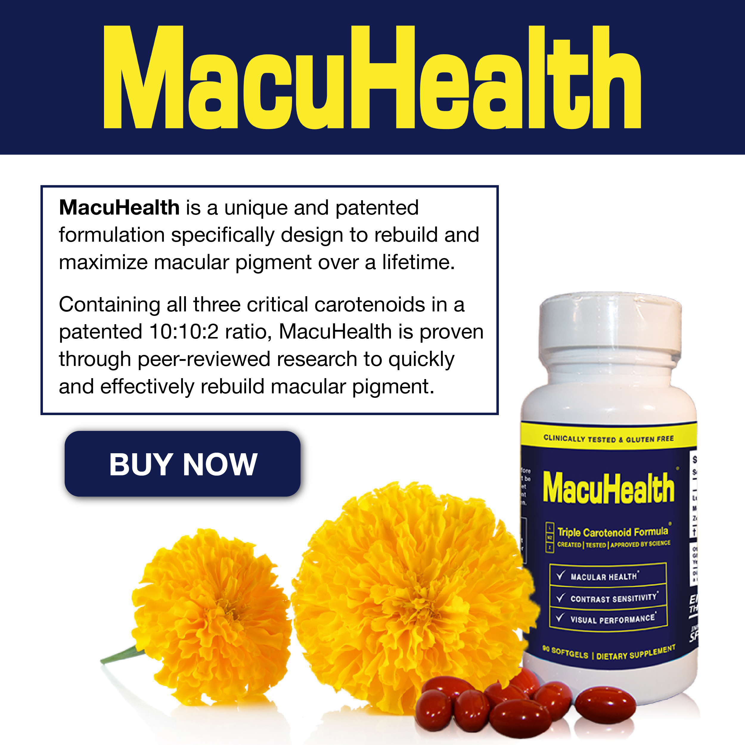 MacuHealth Carotenoid Supplements