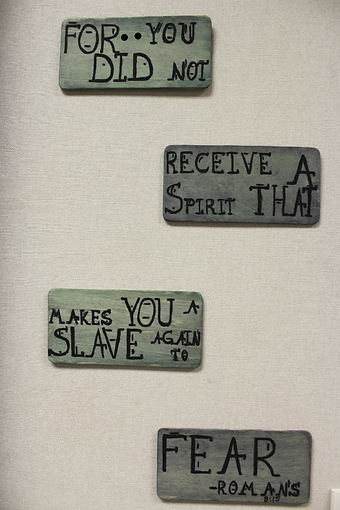 Art, Exhibit, Fear, Display, Message, Bible, Verse, Inspiration, Gallery, College, University