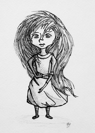 Young Girl From Fear Series