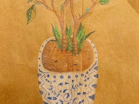 Artfully Fun Quarantine: Whimsical Potted Plant Drawing