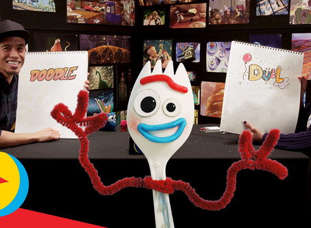 Artfully Fun Quarantine: Doodle Duels from Pixar