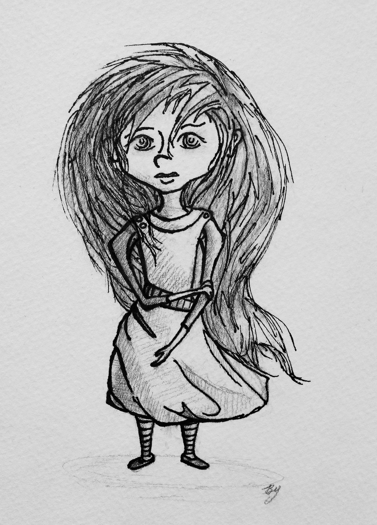 Concept Sketch of Young Girl
