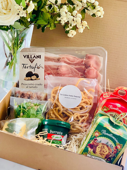 Christmas Special Date Night Meal Kit for 2 - 'Pigs in Blankets' Bucatini