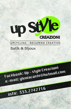 Biglietto da visita Up Style