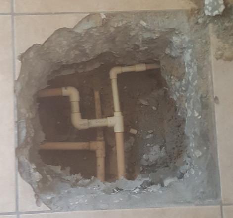 Slab Leak after picture