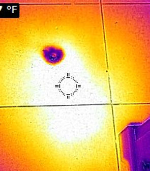 Slab Leak Thermal Image picture. The water leak detectors, leak detection, leak detection company, leak detection near me, leak detection services, plumbing leak detection, slab leak detection, water leak detection.